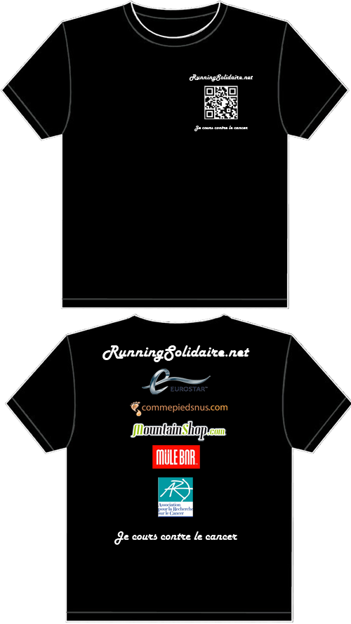 Running solidaire design du t shirt sponsor pour les for Sponsor t shirt design